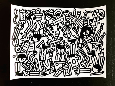 Locura anxiety handmade artwork objects doodle crazy