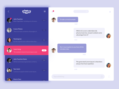 Skype redesign debut messages ux ui chat messaging skype