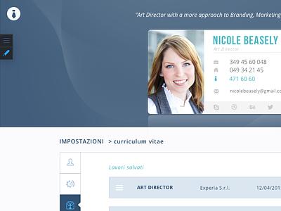 Blue vs Orange web app business card blue orange web dashboard job ui interface