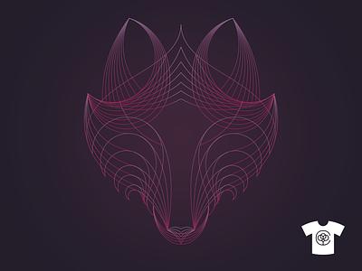 Spirit of the Wolf animal mark design dof alpha wolves lineart illustration cottonbureau tshirt spirit wolf