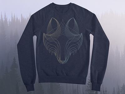 Wolf Threadless playoff merch design illustration geometric lineart blue sweatshirt mark artist shops tee threadless wolf