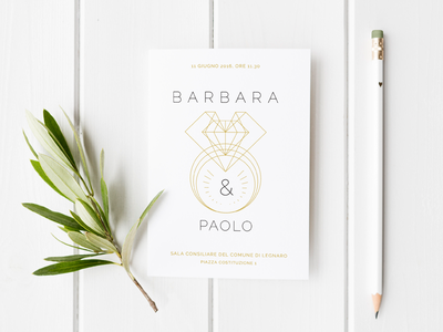 Wedding invitation postcard print save the date geometric card invitation white minimal minimalistic wedding