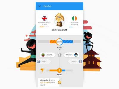 Fai-To Live Competition google material mobile live trophy challenge fight ninja game school timeline competition math