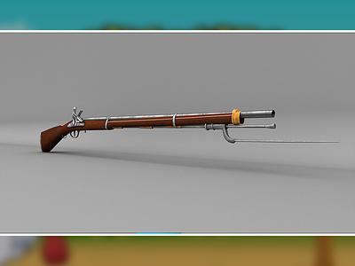 Musket 3d Model lowpoly 3d musket