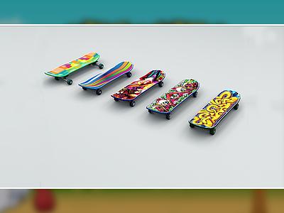 Skateboard 3d Model lowpoly game game model 3d model skateboard