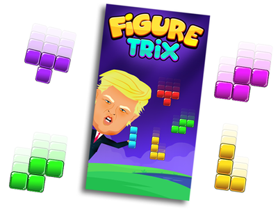 Figure trix game Graphic ui gamedesign games colorful donaldtrump donald gamegraphic game