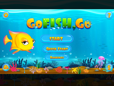 Go fish Go Game Graphics ocean blue game graphics water fish go