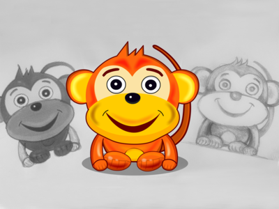 Cartoon Monkey character for Game