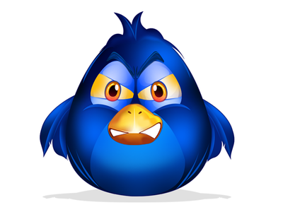 Bird Design for Game blue bird cartoon bird bird design angry bird