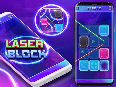 Laser Block game design johny vino purple laser game block game game