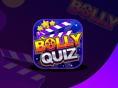 Bollywood Quiz Game Icon trendy design design graphics game icon quiz bollywood