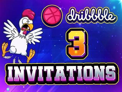 3 Dribble Invitations designer game graphics gamedesigna dribble join dribble invite dribble invitations