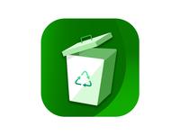Recycle Bin App Icon ui logo app icons app design bin recycle bin app icon design app icon
