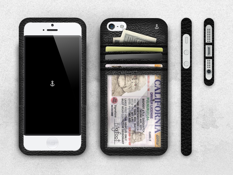 Anchor Case - v3 anchor case anchor leather iphone iphone 5 iphone 4 accessories minimalism simplicity
