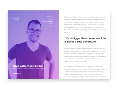Startup & Business Chronicle Design for Web crafted in wi interview website blog web