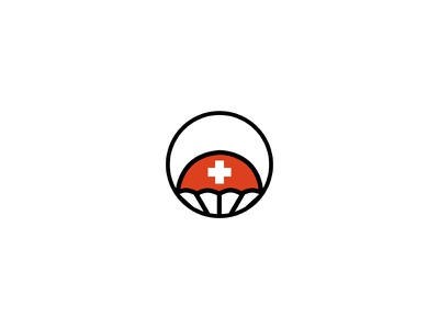 Flare brand mark symbol logo mark identity branding startup rescue aid parachute flare logo