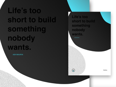 Life's Too Short! startups quote agency quotes design poster