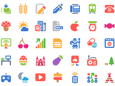 100 Free Cosmo Color Vector Icons graphic design ios line andorid icons icon freebies free
