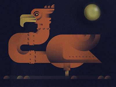 just a bird sun beak flamingo bird shapes texture flat  design geometric