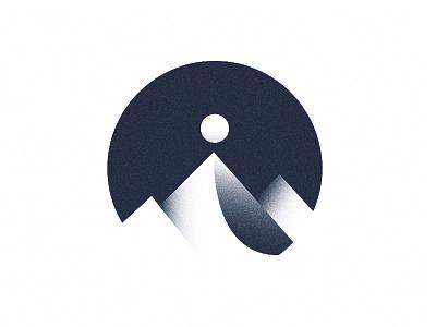 Logo 01   Prototype exhibition  design prototype logo sun mountains texture geometric