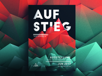 poster   exhibition design colorful vector polygon identity summit mountain geometric poster exhibition exhibition  design aufstieg