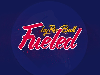 Fueled By Redbull 21 - 365 typography lettering grunge texture type365 design long shaddow red bull