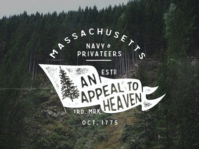 An Appeal to Heaven 23 - 365 typography lettering grunge texture quote type365 design distressed america