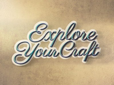 Explore Your Craft progressbeforeperfection rendered raw explore quote craft shaddow type lettering typography