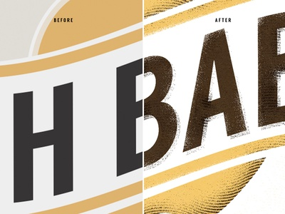 Before & After - Its all about the details details polish illustrator photoshop vector logo distressed effects branding edit