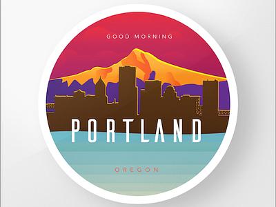 Portland Oregon Badge clean oregon pdx portland illustration badge