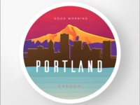 Portland Oregon Badge