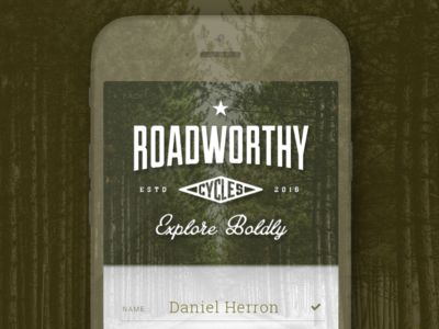 Sign Up - Daily UI - #001 daily ui app explore roadworthy ux ui trees sign up
