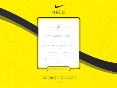Credit Card Checkout - Daily UI - (002/100) 002 flat design nike ui credit card daily ui check out