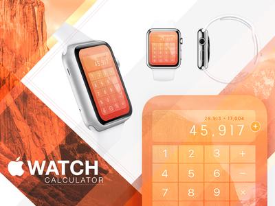 Daily UI #004 - Calculator - Apple Watch overlay ux el capitain 004 daily ui calculator apple apple watch
