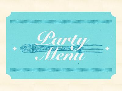 Bisky Menu vintage engraving section menu