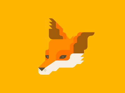 Fox study red orange portrait grid minimal art vector illustrator adobe illustration drawing animal fox