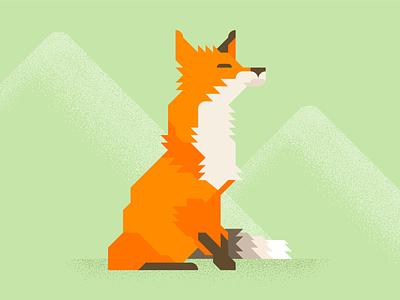 Fox3 vector grid fox orange brown fast illustration minimal animal