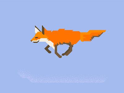 Fox4 jump fast minimal orange brown grid adobe illustrator fox animal vector illustration