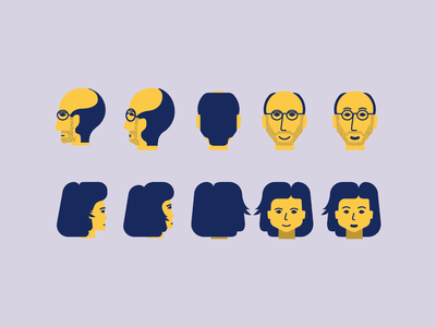 unused characters faces adobe illustrator character vector illustration