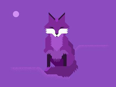 Fox 5 minimal grid vector illustration illustrator animals foxes fox