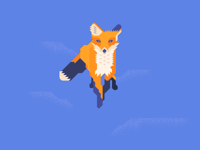fox6 jump minimal grid vector illustration foxes animal fox