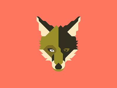 fox7 minimal vector illustration face foxes animal fox