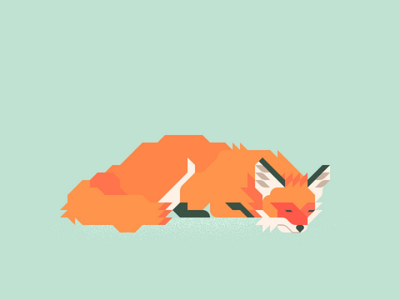Fox 8 minimal illustration illustrator vector grid geometric foxes sleep fox