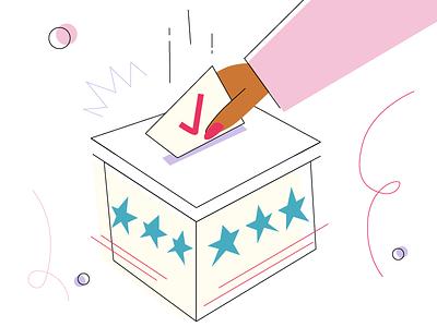 VOTE womenofillustration designart digitalart graphicdesigndaily graphicdesign creatives illustrator dailydrawing adrawingaday politics vote