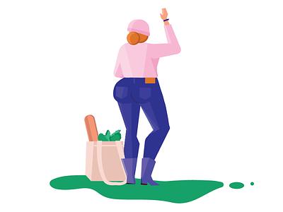 Groceries character womenofillustration illustrator illustration