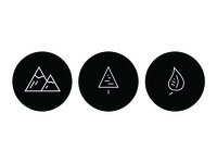Geometric Nature Icons