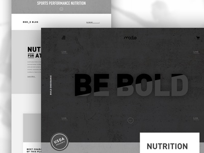 Mode Website Concept strong athletic sporty bold grey clean navigation website