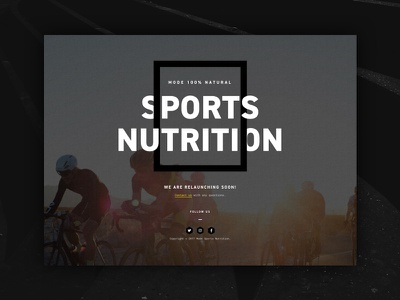 Mode Under Construction drink nutrition sports launching control shape under construction coming soon athletic athletes bikes natural website