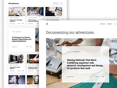 Simple Blog Layout black white clean categories posts layout website blog simple
