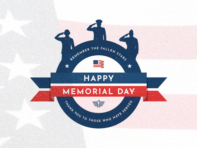 Memorial Day banner eagle american flag america blue white red military soldiers silhouettes memorial day honor